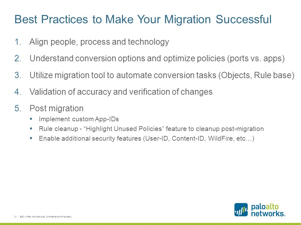 Best Practices to Make Your Migration Successful