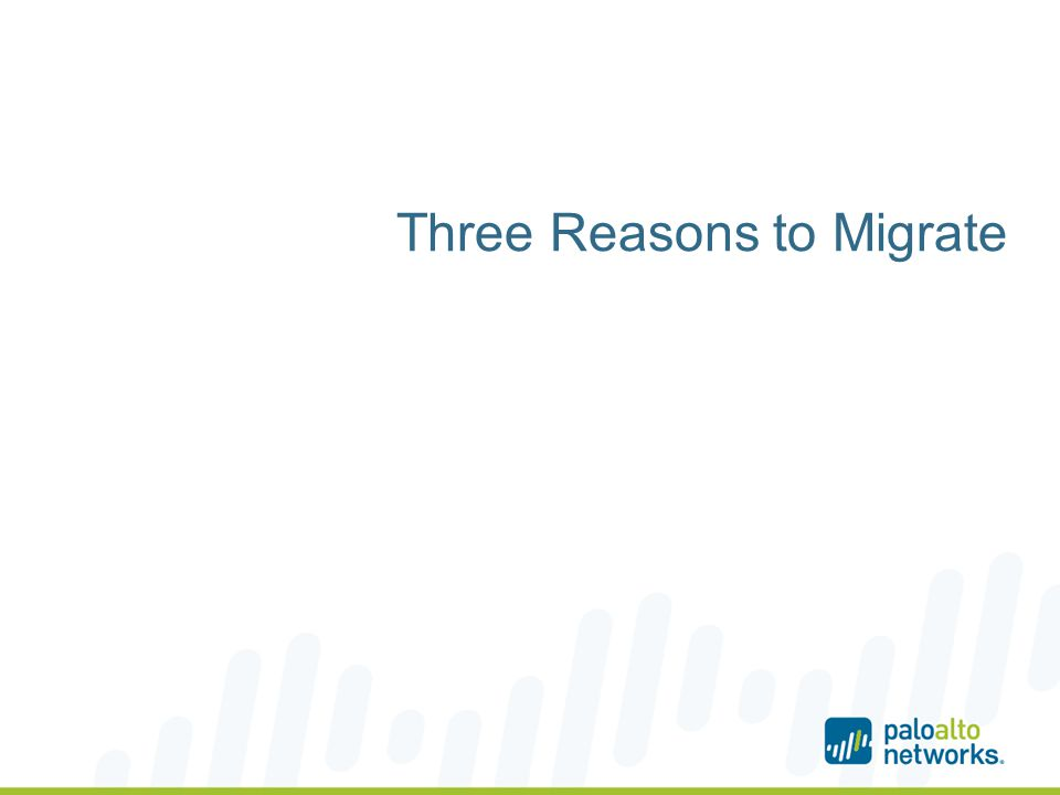 Three Reasons to Migrate