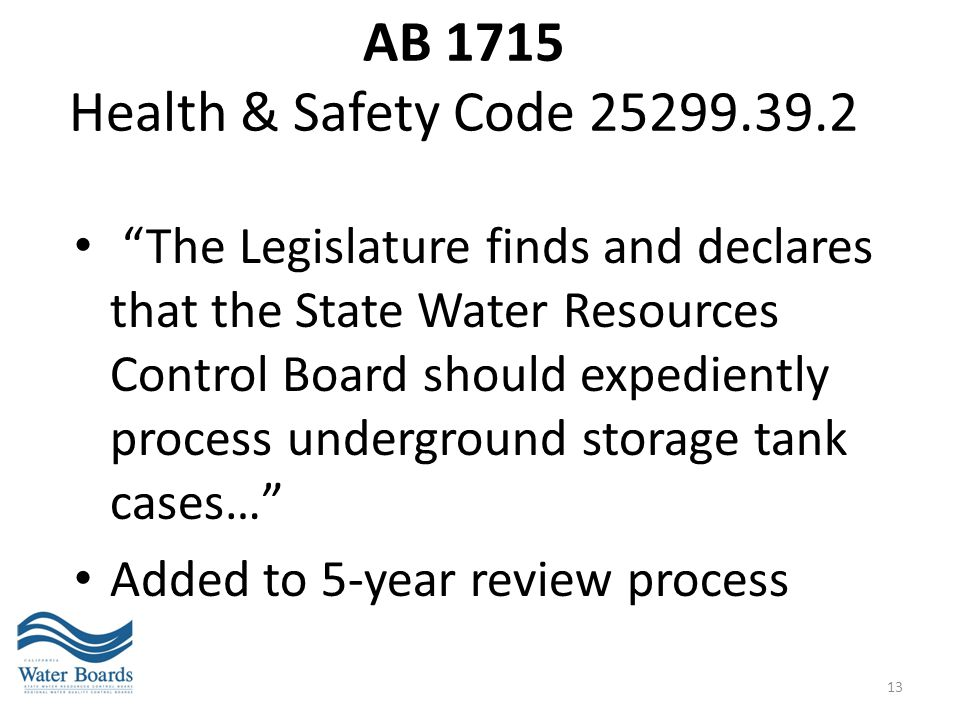 AB 1715 Health & Safety Code 25299.39.2