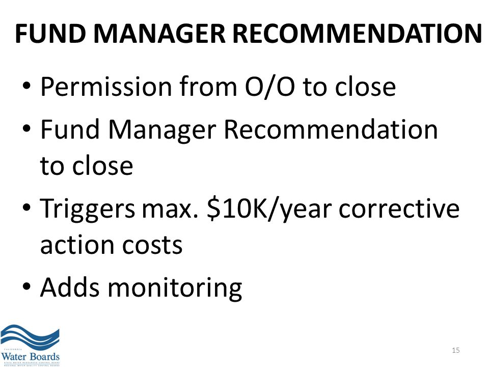 Fund Manager Recommendation
