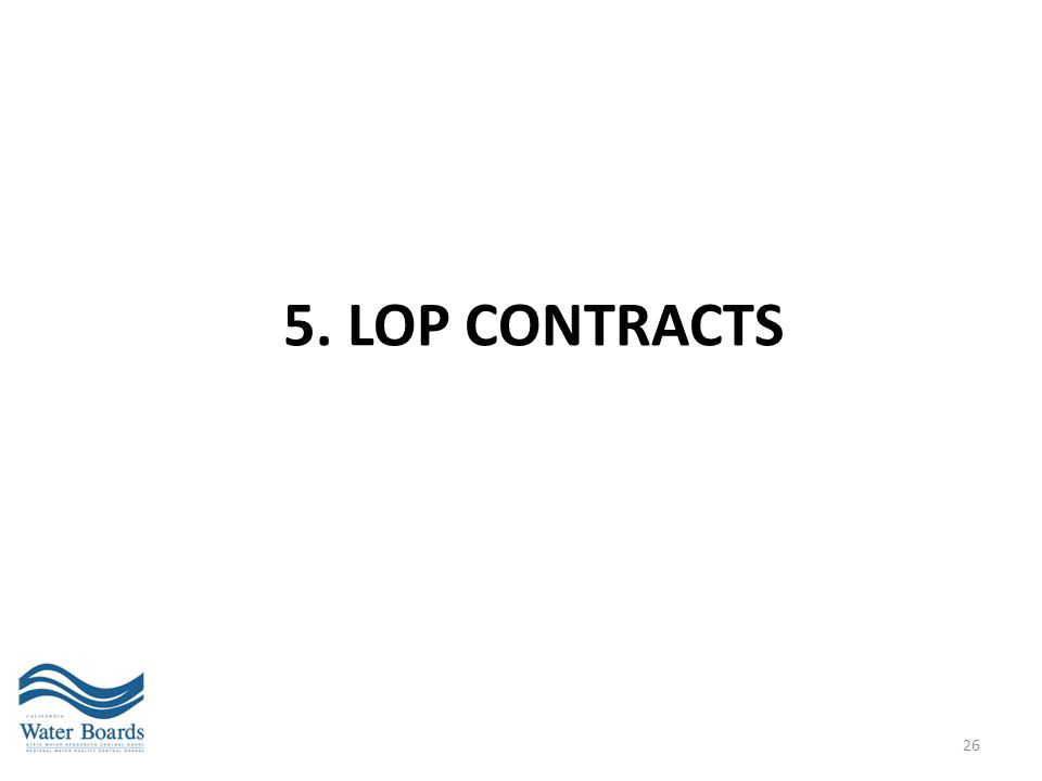 5. LOP Contracts
