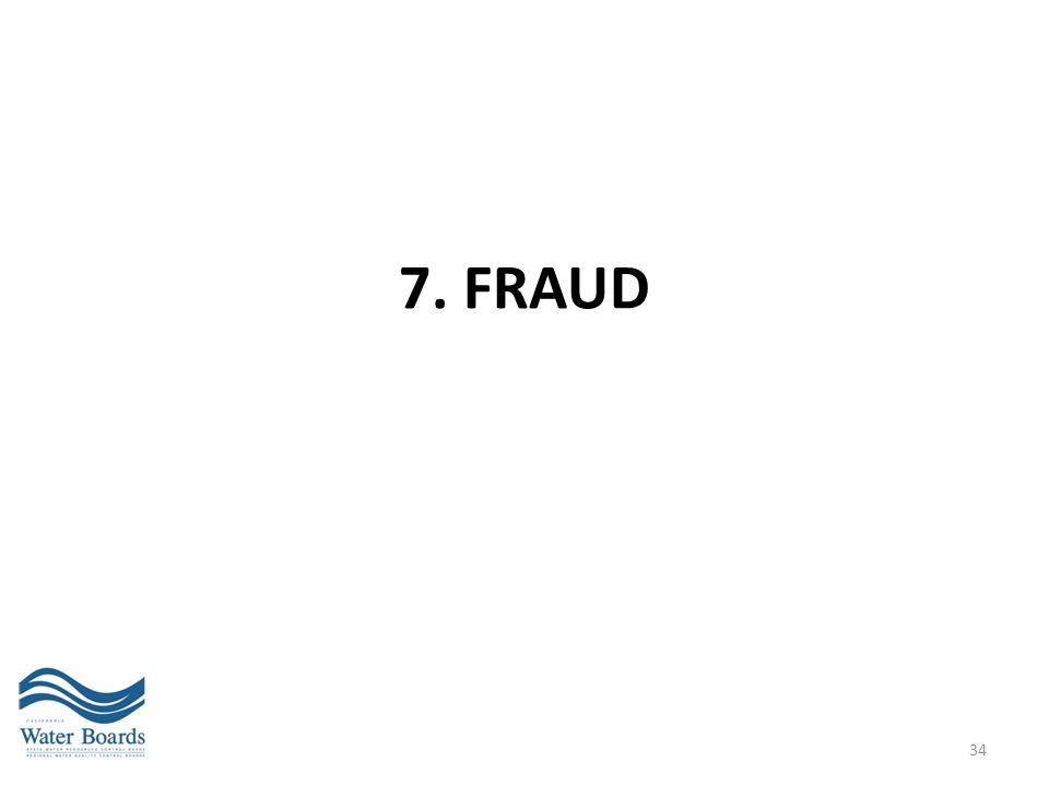 7. FRAUD