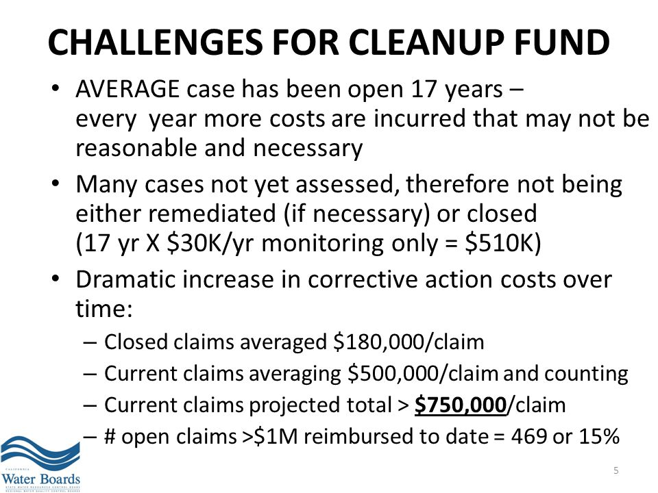 Challenges for Cleanup Fund