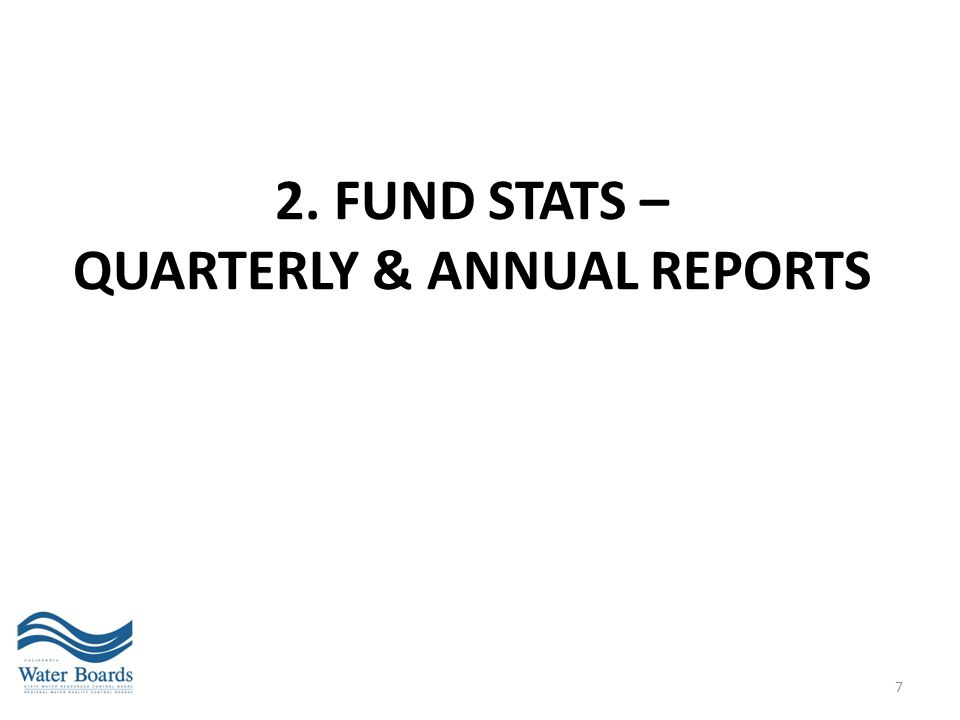 2. Fund stats – QUARTERLY & ANNUAL REPORTS