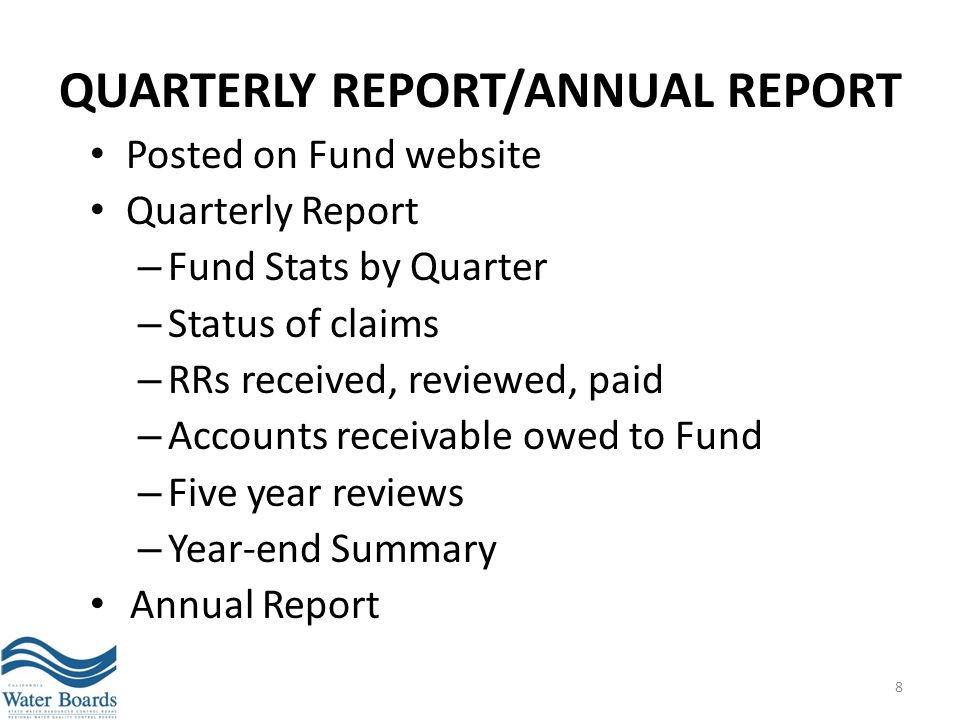 QUARTERLY REPORT/ANNUAL REPORT