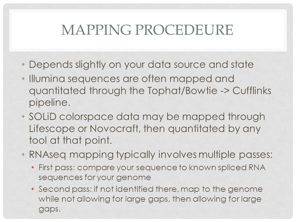 Mapping Procedeure Depends slightly on your data source and state