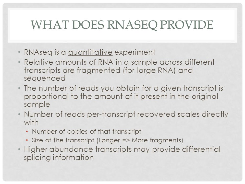 What does RNAseq provide
