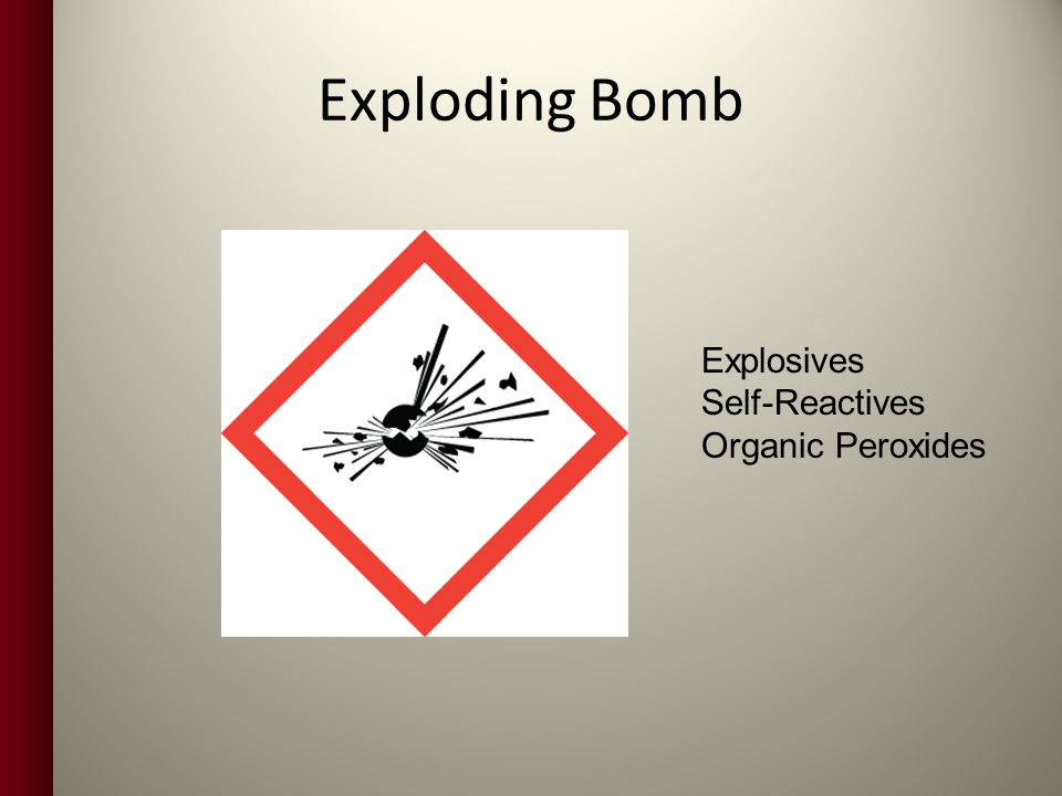 Exploding Bomb Explosives Self-Reactives Organic Peroxides