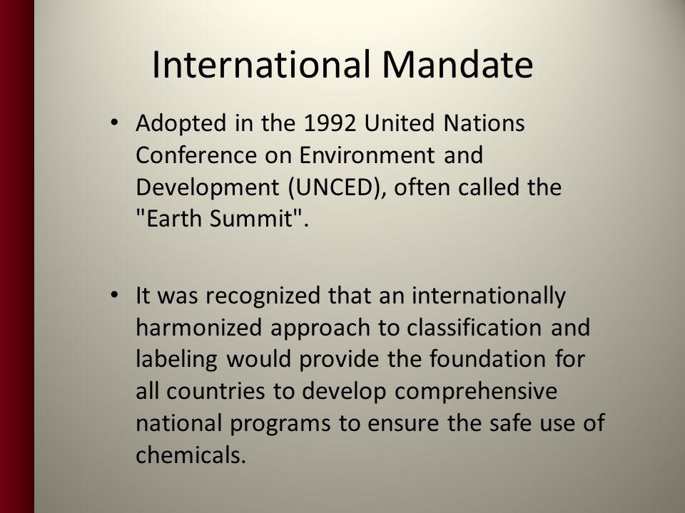 International Mandate