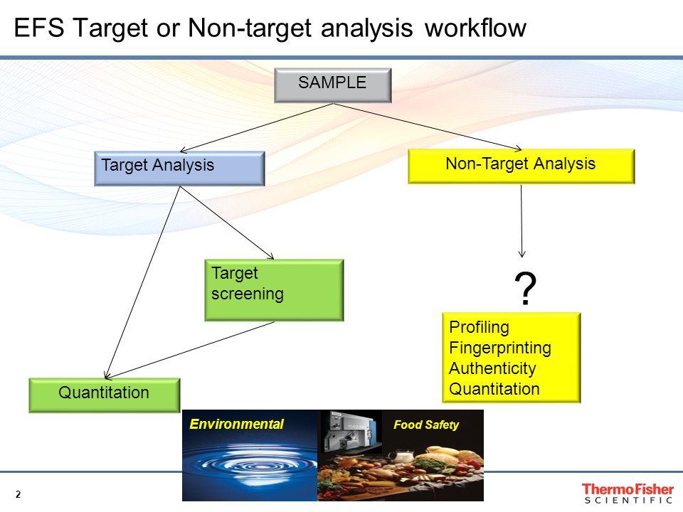 EFS Target or Non-target analysis workflow