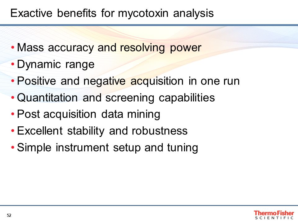 Exactive benefits for mycotoxin analysis