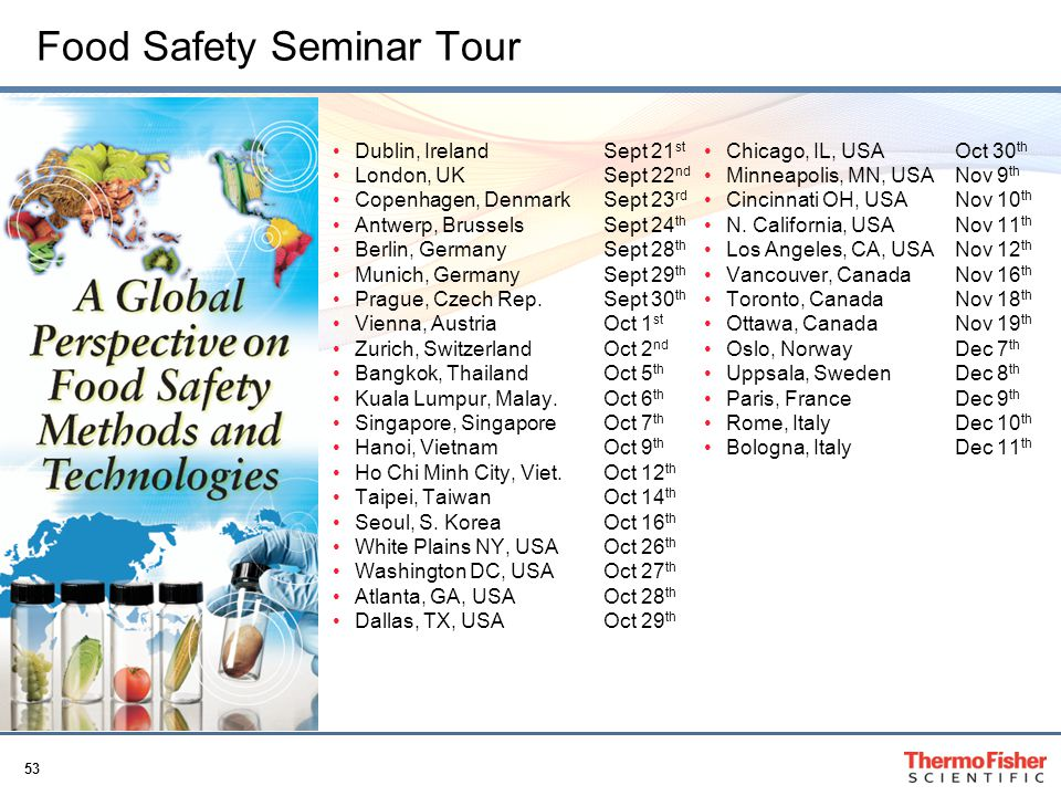 Food Safety Seminar Tour