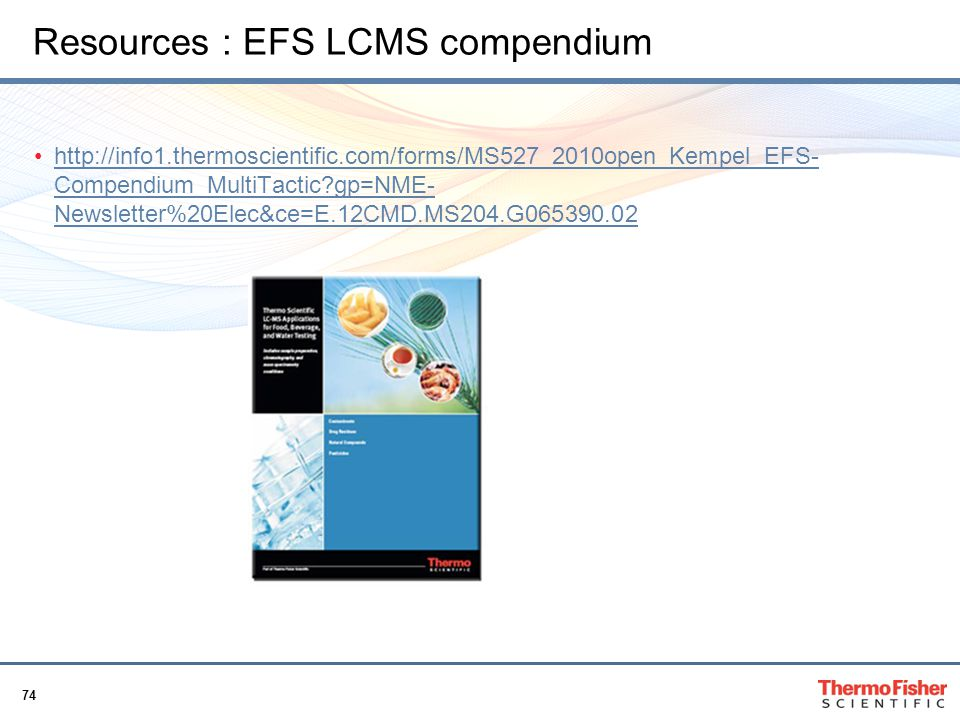 Resources : EFS LCMS compendium