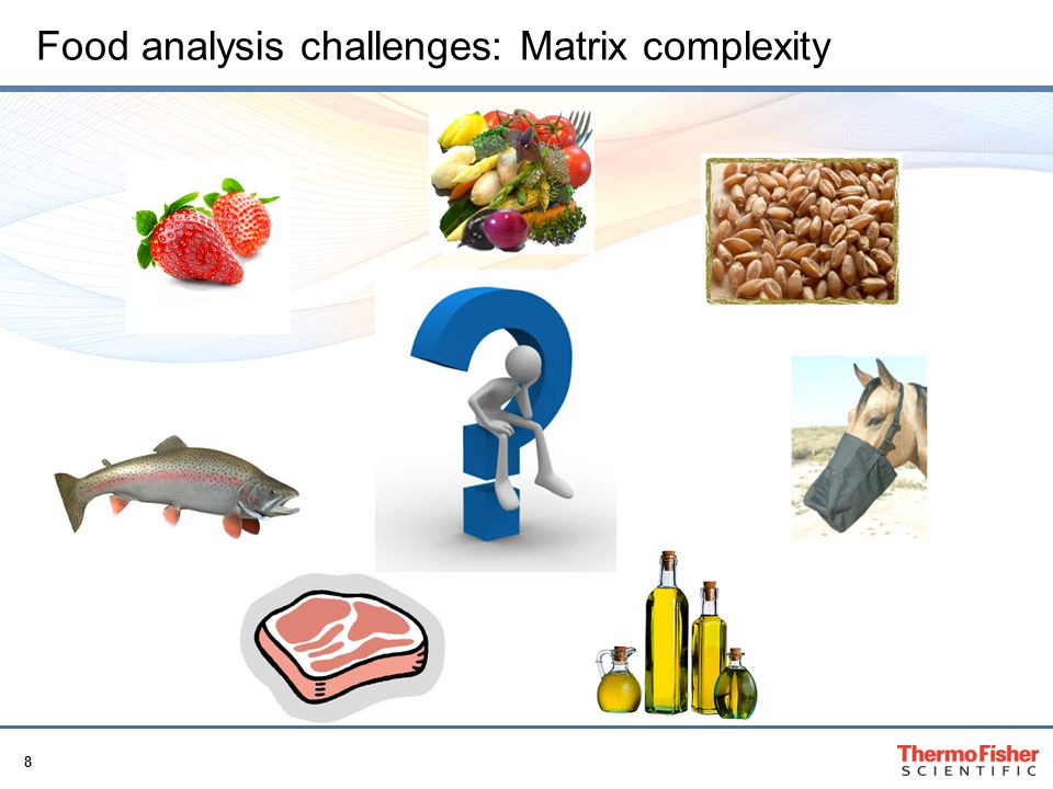 Food analysis challenges: Matrix complexity