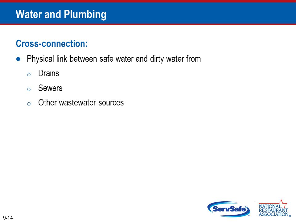 Water and Plumbing Cross-connection:
