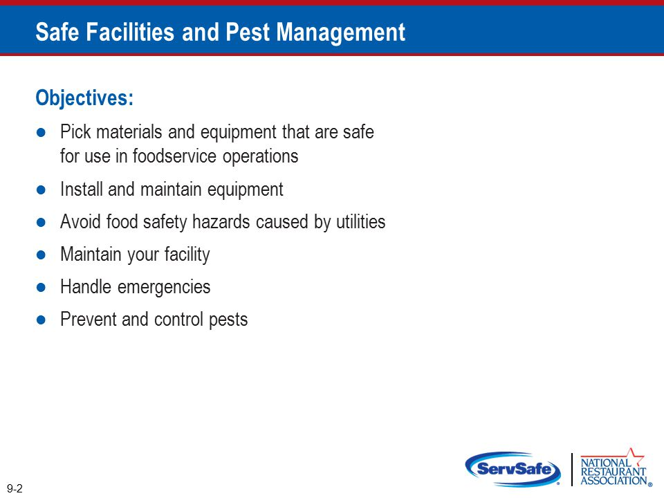 Safe Facilities and Pest Management