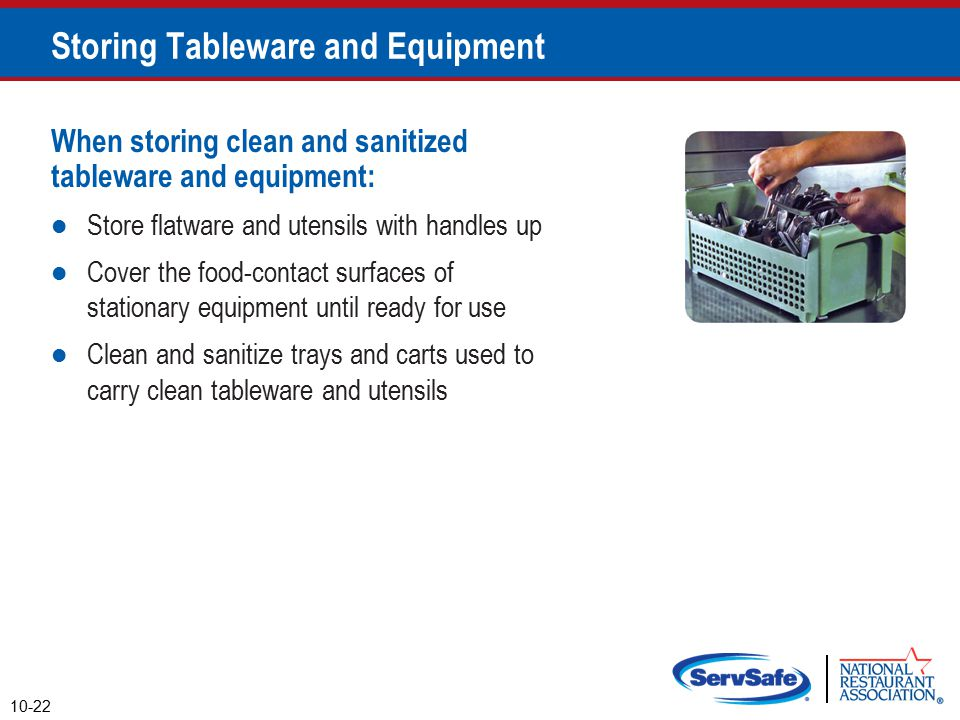 Storing Tableware and Equipment