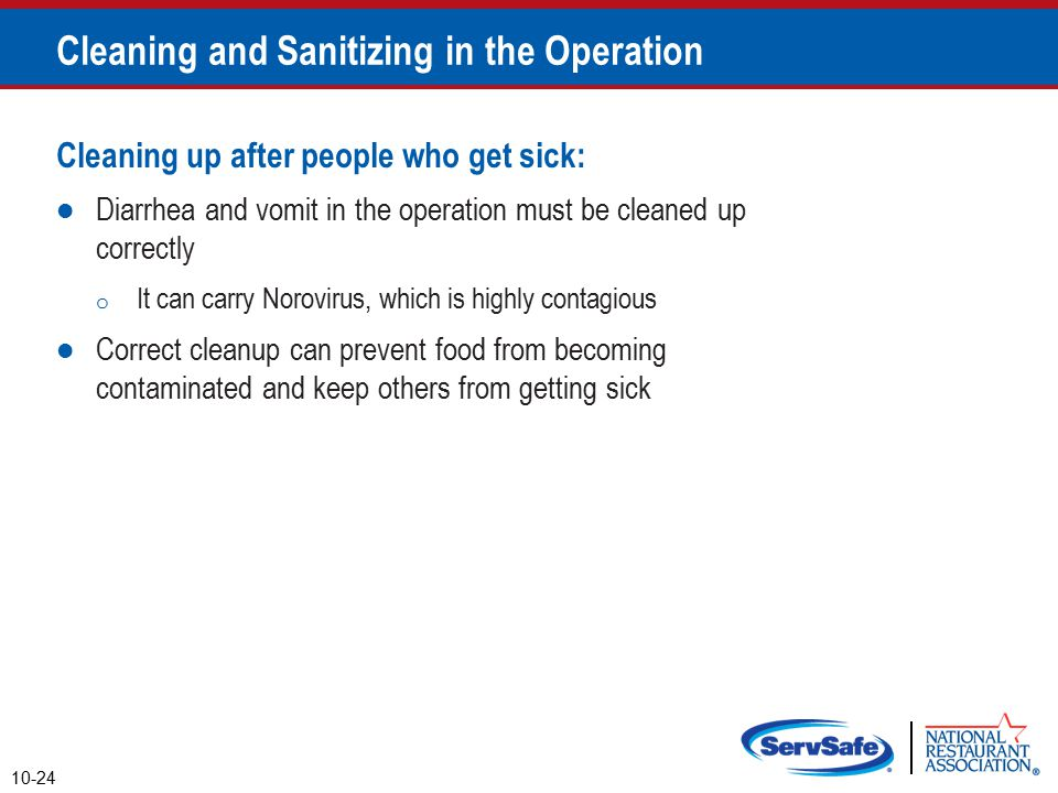 Cleaning and Sanitizing in the Operation