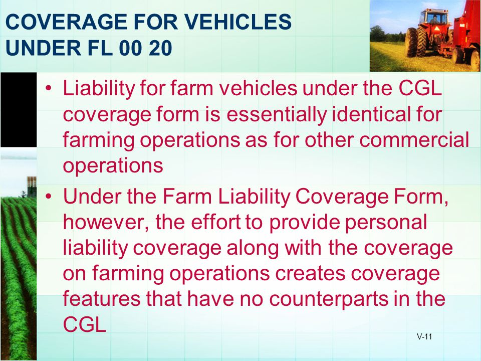 COVERAGE FOR VEHICLES UNDER FL 00 20