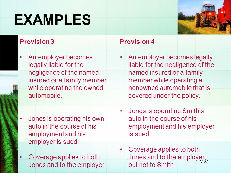 EXAMPLES Provision 3.