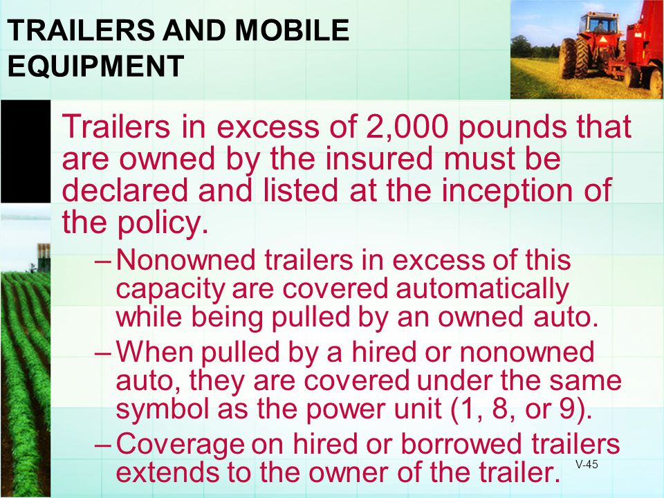 TRAILERS AND MOBILE EQUIPMENT