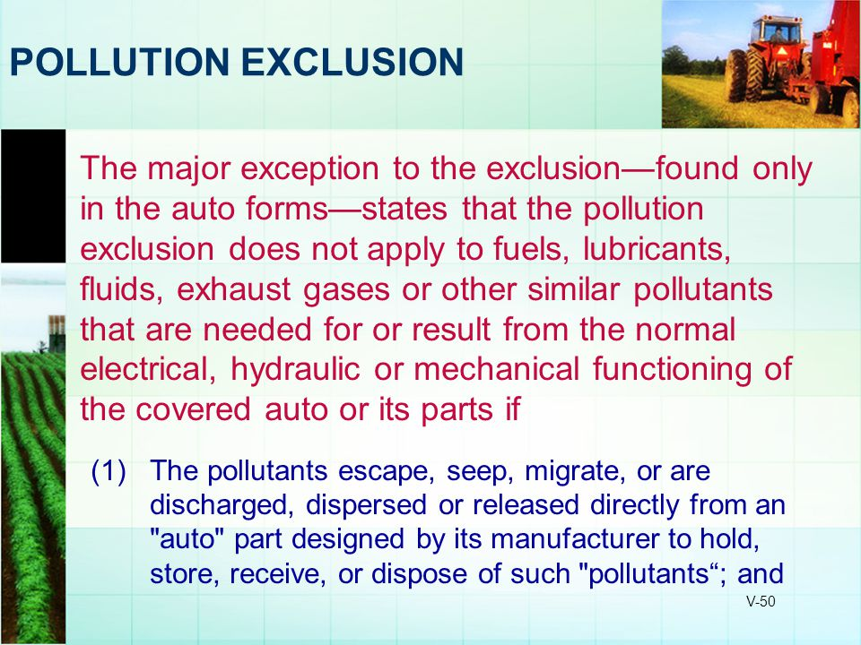 POLLUTION EXCLUSION