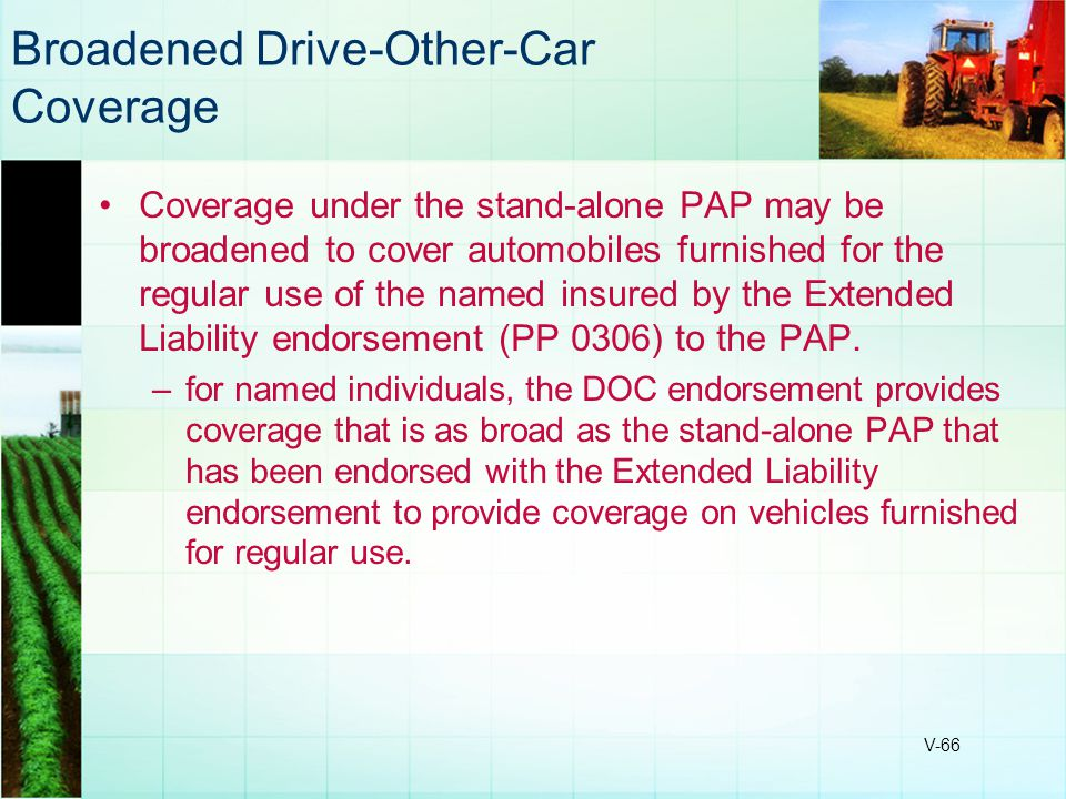 Broadened Drive-Other-Car Coverage