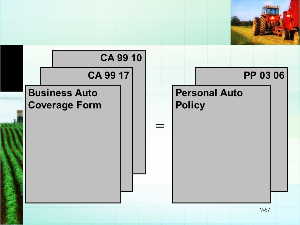 = CA 99 10 CA 99 17 PP 03 06 Business Auto Coverage Form