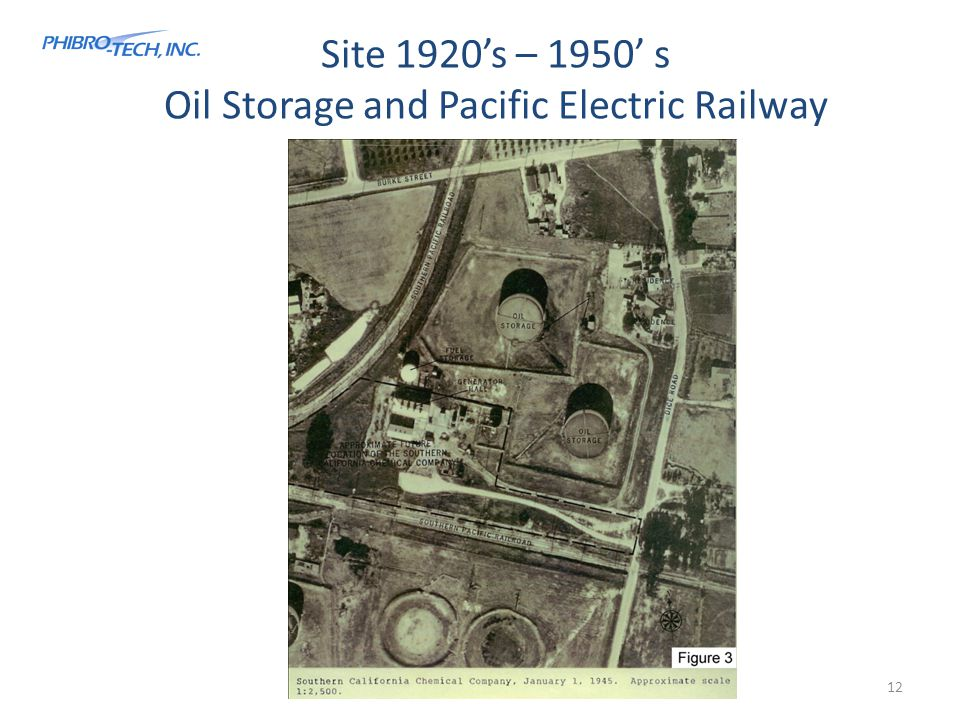 Site 1920's – 1950' s Oil Storage and Pacific Electric Railway