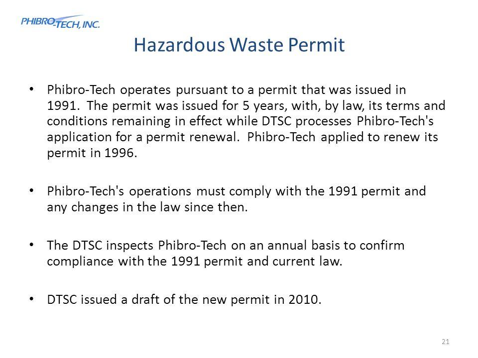 Hazardous Waste Permit