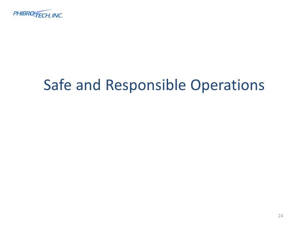 Safe and Responsible Operations