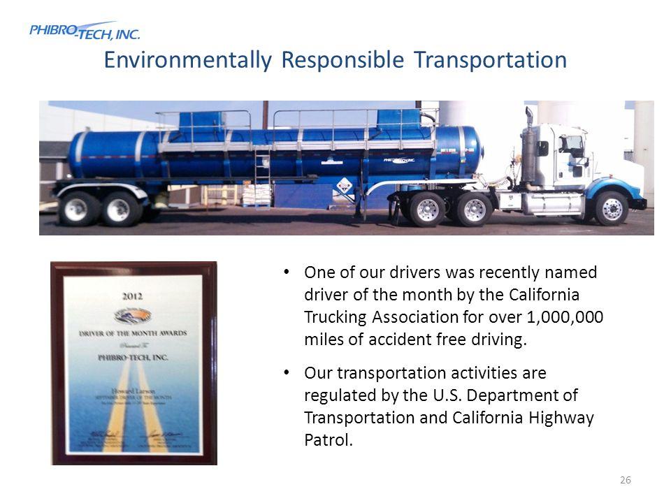 Environmentally Responsible Transportation