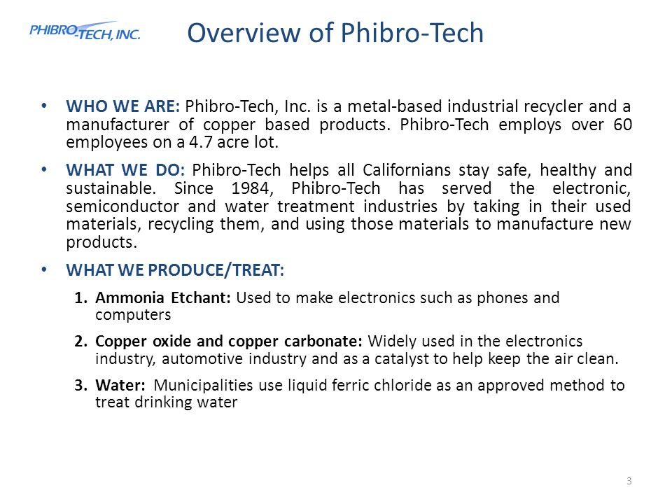 Overview of Phibro-Tech