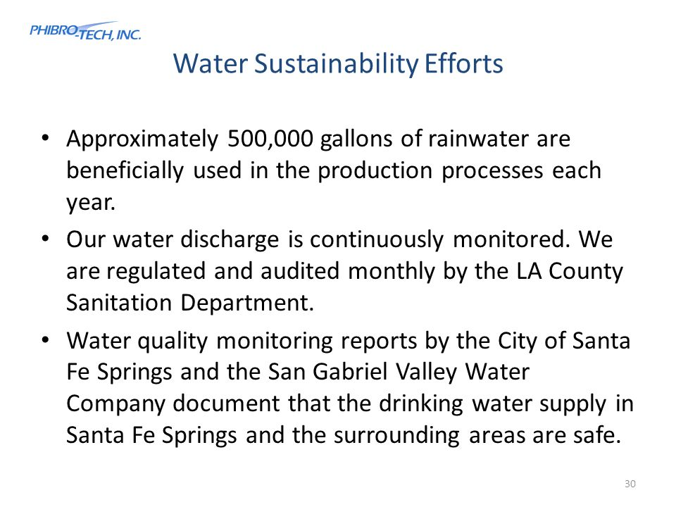 Water Sustainability Efforts