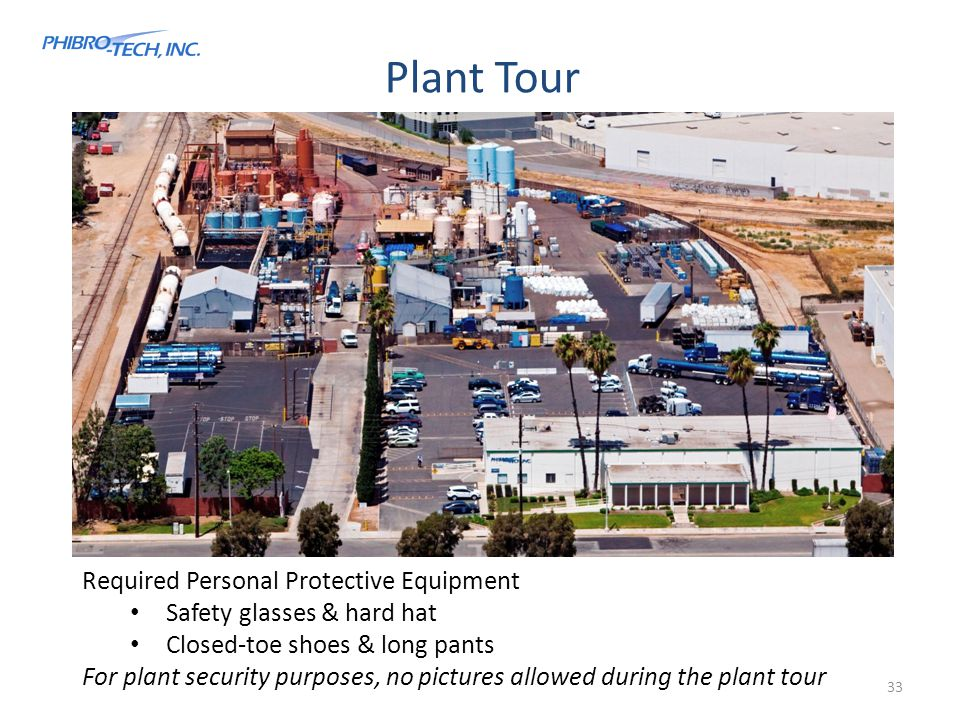 Plant Tour Required Personal Protective Equipment