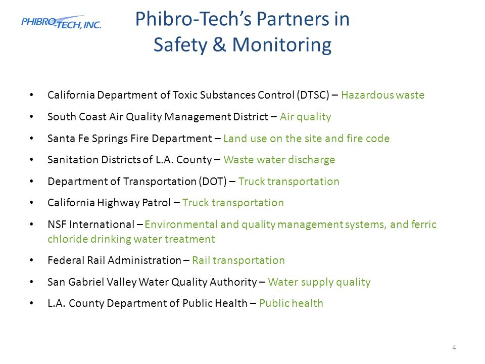 Phibro-Tech's Partners in Safety & Monitoring
