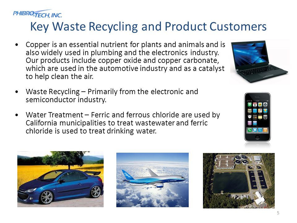 Key Waste Recycling and Product Customers