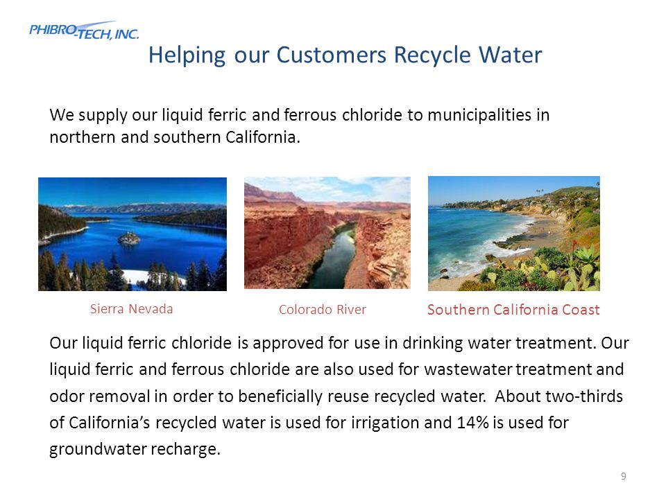 Helping our Customers Recycle Water
