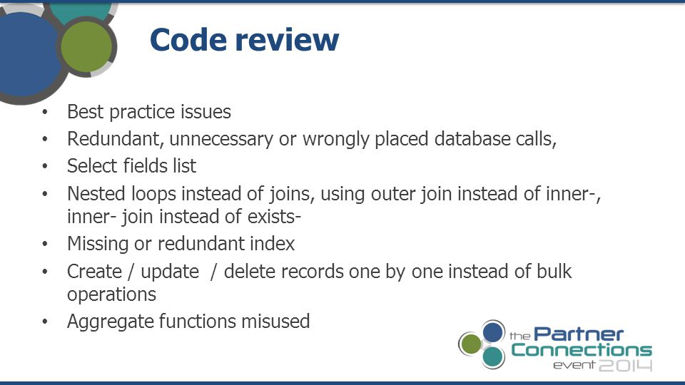 Code review Best practice issues