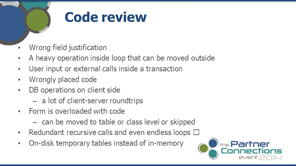 Code review Wrong field justification