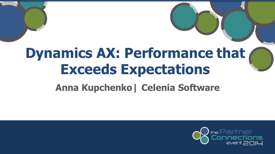 Dynamics AX: Performance that Exceeds Expectations