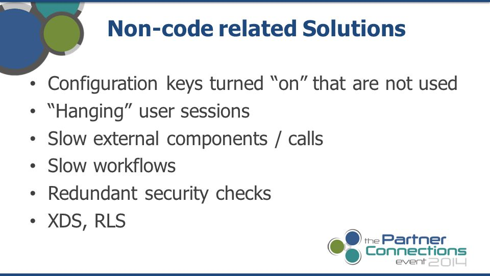 Non-code related Solutions