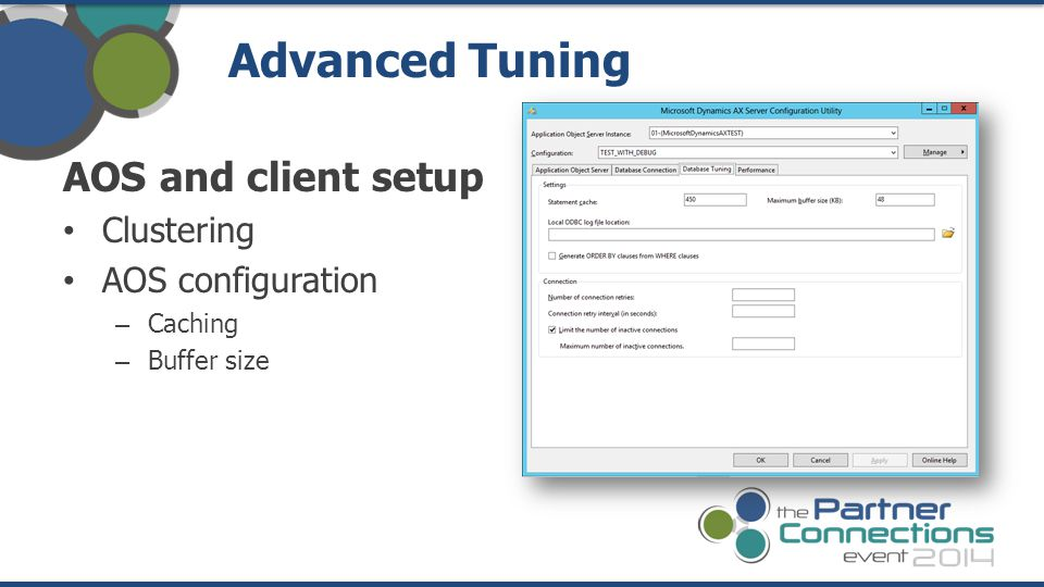 Advanced Tuning AOS and client setup Clustering AOS configuration