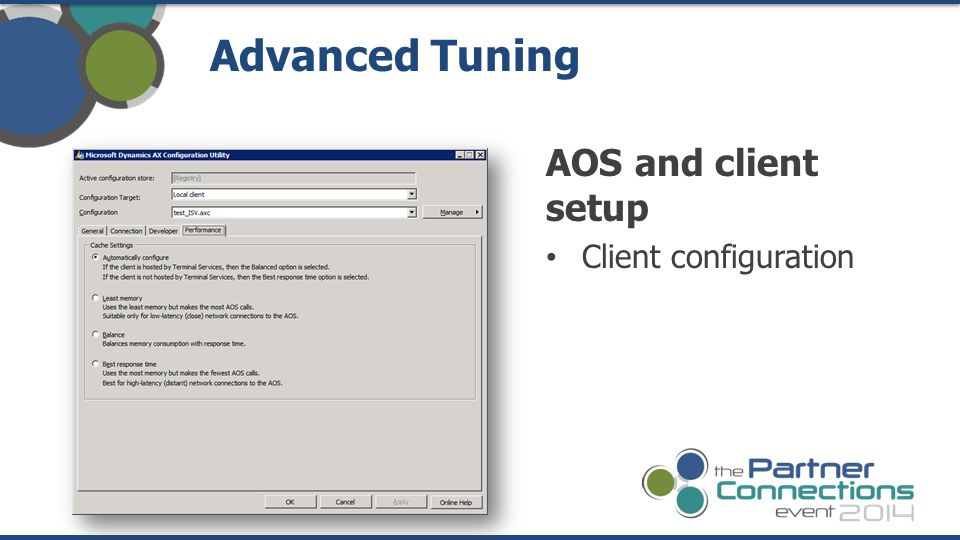 Advanced Tuning AOS and client setup Client configuration