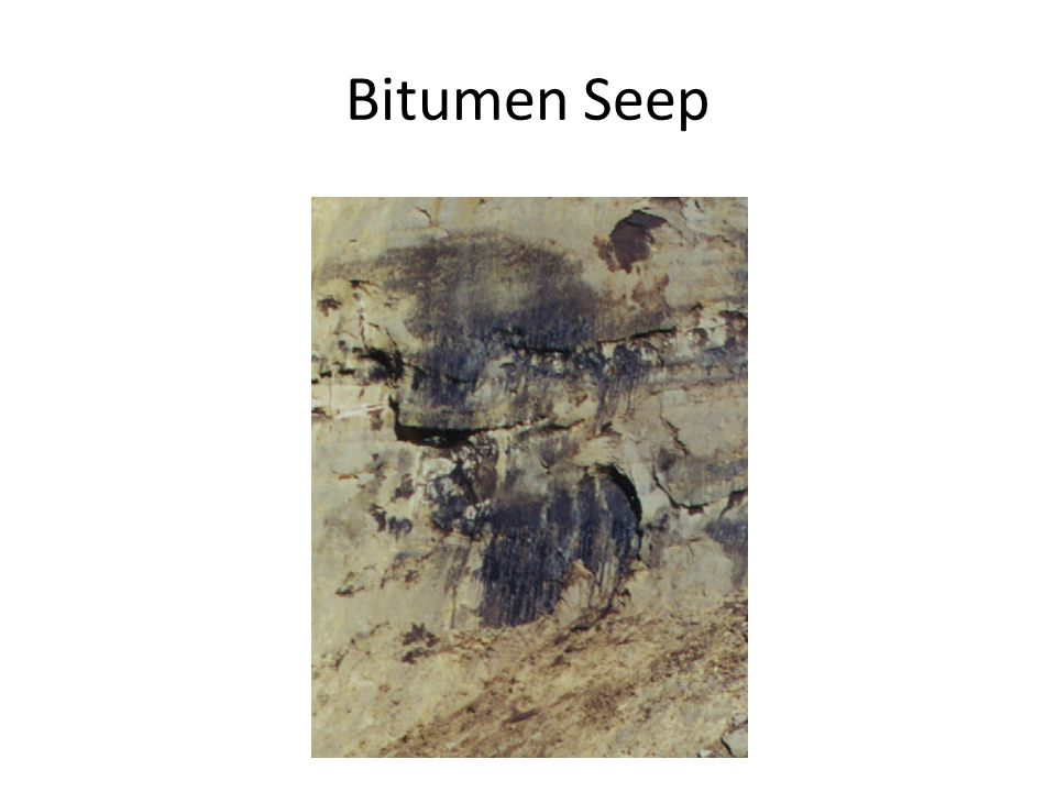 Bitumen Seep