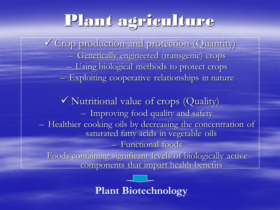 Plant agriculture Crop production and protection (Quantity)
