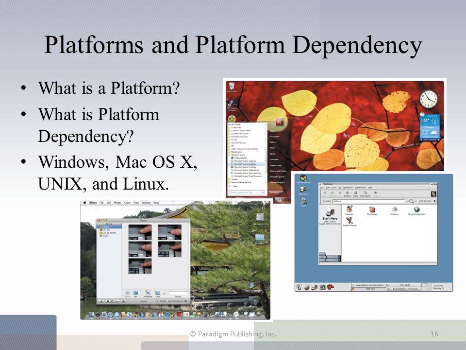Platforms and Platform Dependency