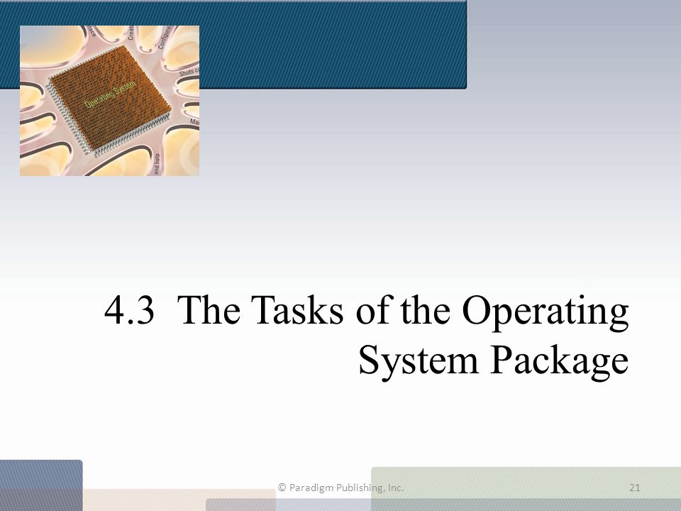 4.3 The Tasks of the Operating System Package