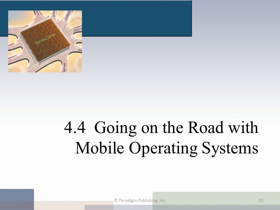 4.4 Going on the Road with Mobile Operating Systems