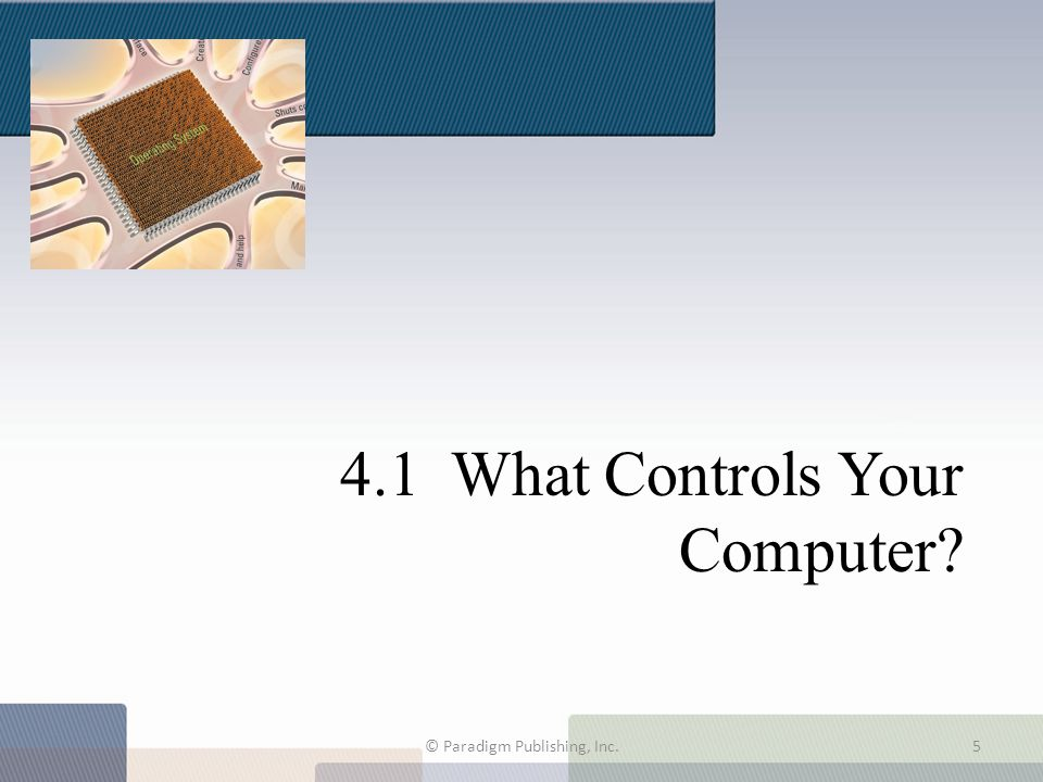 4.1 What Controls Your Computer